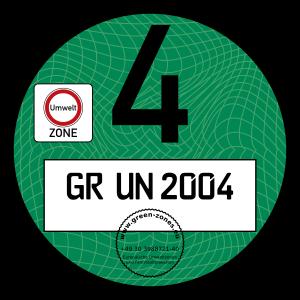 Grüne Plakette GR-UN 2004 300px